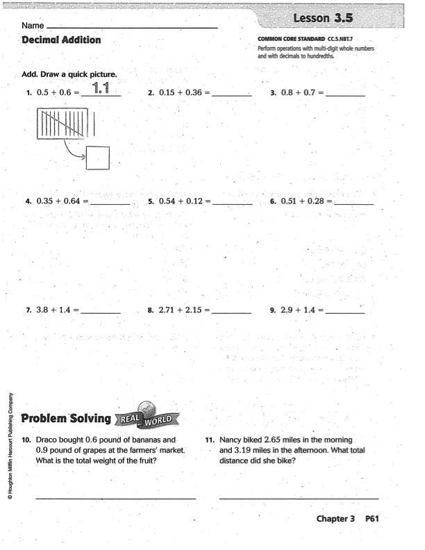 Go Math 5th Grade Answer Key Chapter 10 - go math daily ...