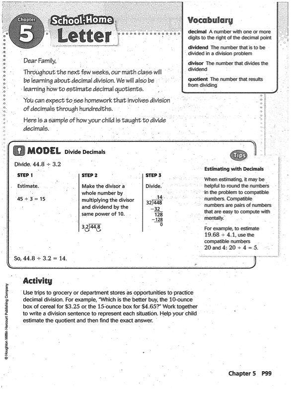 Go Math Chapter 5 - Practice Book | Mr. Monteleone's 5th ...