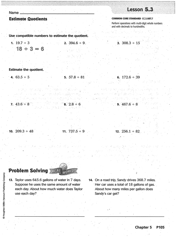 Go Math Grade 5 Answer Key Chapter 6 5th grade go math ...