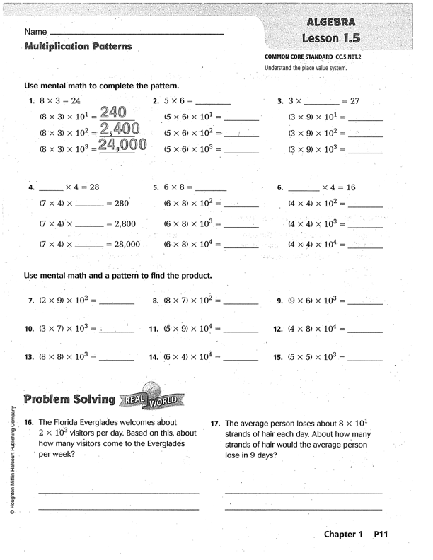 Florida 6th Grade Go Math Worksheets. Florida. Best Free ...